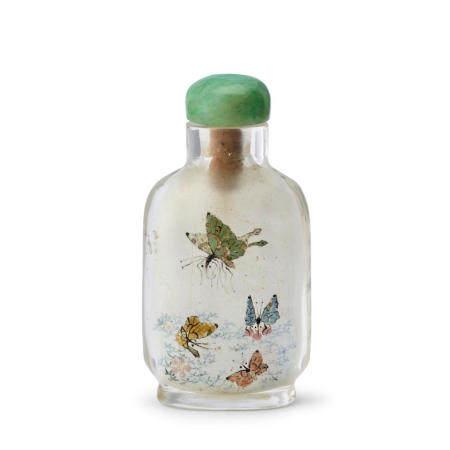 A MINIATURE INSIDE-PAINTED GLASS SNUFF BOTTLE  Ma Shaoxuan Signed, circa 1897-1900