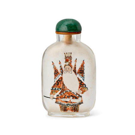 AN INSIDE-PAINTED GLASS SNUFF BOTTLE  Ma Shaoxuan Signed and dated gengzi year, corresponding to 1900