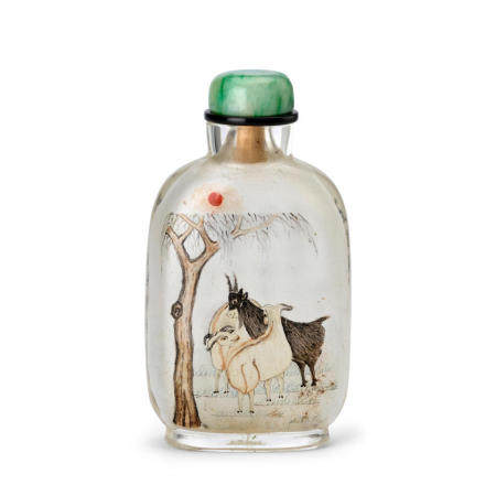 AN INSIDE-PAINTED GLASS SNUFF BOTTLE  Attributed to Ma Shaoxuan Signed and dated guimao year, corresponding to 1903