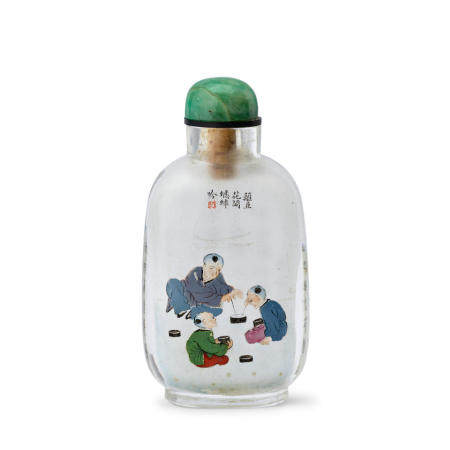 AN INSIDE-PAINTED GLASS SNUFF BOTTLE  Ma Shaoxuan Signed and dated guimao year, corresponding to 1903