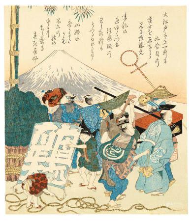 HOKUSAI SCHOOL Edo period (1615-1868), first half of the 19th century