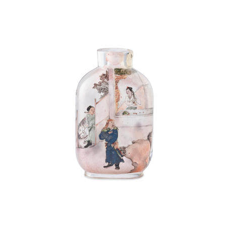 Two Inside-painted snuff bottles One dated 1895 (2)