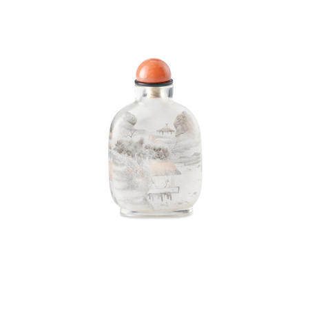 An inside-painted glass snuff bottle Yan Yutian, 1895