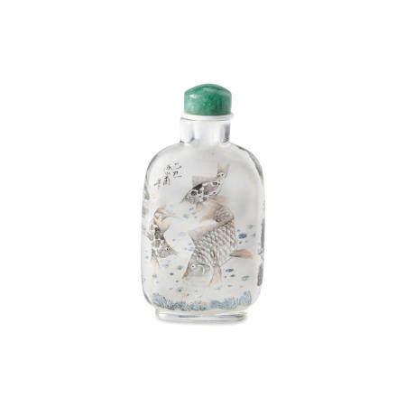 An inside-painted glass snuff bottle Chen Shaofu, 1905