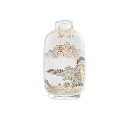 Two inside-painted clear glass snuff bottles Ma Shaoxuan, 1911,  1903