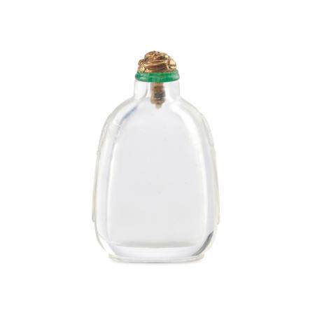 A clear rock crystal snuff bottle 1840-1900