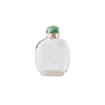 A rock crystal 'Sea-Spray' snuff bottle  1750-1850