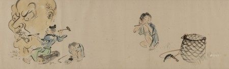 ATTRIBUTED TO SHIBATA ZESHIN (1807-1891) Pictures of Chinese and Japanese figures