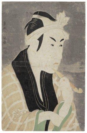 TOSHUSAI SHARAKU (ACT. 1794-95) The actor Matsumoto Koshiro IV as Gorobei, the Fishmonger from San'ya