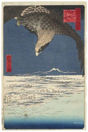 UTAGAWA HIROSHIGE (1797-1858) Fukagawa Susaki Jumantsubo (Jumantsubo Plain at Fukagawa Susaki)