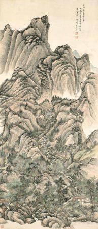 Attributed to Wang Hui (1632-1717) Landscape after Wang Meng, 1710