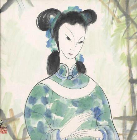 Lin Fengmian (1900-1991)  Lady