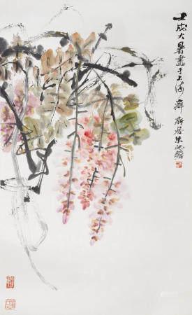 Zhu Qizhan (1892-1996)  Wisteria, 1982