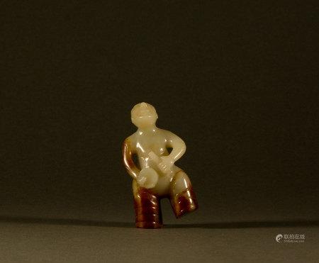 Warring States - Hetian jade figurines