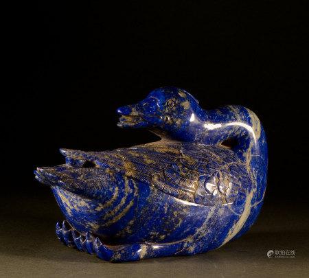 Qing Dynasty - Lapis lazuli goose