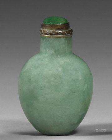 A Green Jadeite Snuff Bottle
