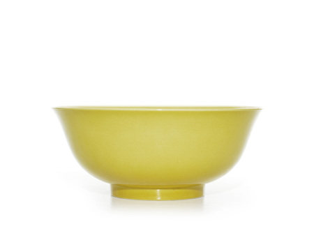 A Very Large Chinese Yellow-Glazed Bowl