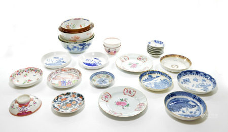 A Group of Chinese and Vietnam Porcelain Bowls and Cups