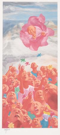方力鈞 2002.6.1 版畫