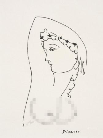 畢加索 女肖像 版畫