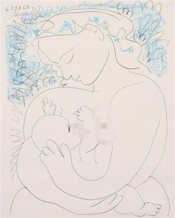 畢加索 母子 版畫