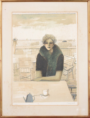 Jean-Pierre Cassigneul 讓·皮埃爾·格西勒 下午茶 版畫