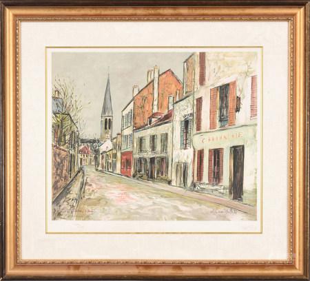 Maurice Utrillo莫里斯·郁特里羅 斑駁教堂 版畫
