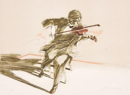 Claude Weisbuch克勞德·維斯比什 音樂家 版畫