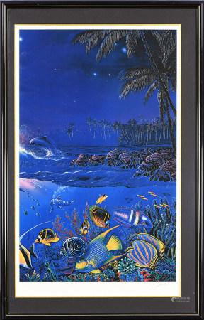 Christian Riese Lassen 克里斯蒂安·裏澤·拉森  海底世界 版畫