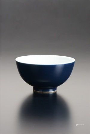 清代 藍釉碗