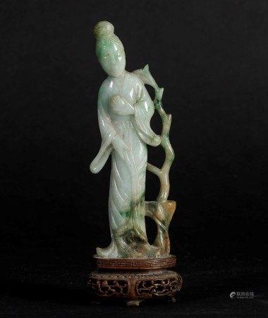 A jadeite figure, China, early 1900s, A jadeite figure, China, early 1900s