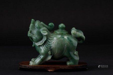 A jade vase, China, Qing Dynasty, 1800s, A jade vase, China, Qing Dynasty, 1800s
