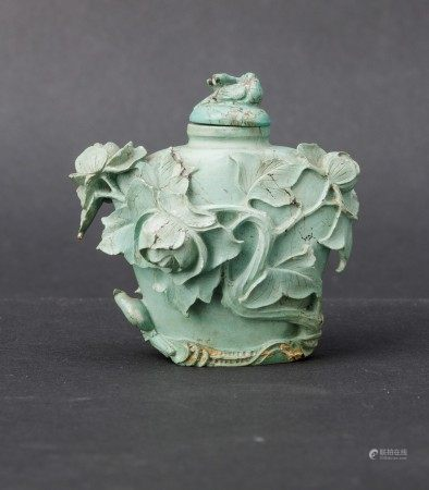 A turquoise snuff bottle, China, Qing Dynasty, A turquoise snuff bottle, China, Qing Dynasty