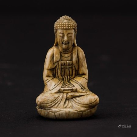 A soapstone Buddha Amitayus, China, Qing Dynasty, A soapstone Buddha Amitayus, China, Qing Dynasty