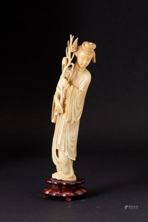 A carved ivory figure, China, early 1900s, A carved ivory figure, China, early 1900s