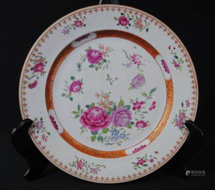 A famille rose floral porcelain, Qianlong period or later