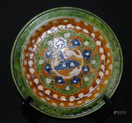 A sancai dish, probably Liao dynasty