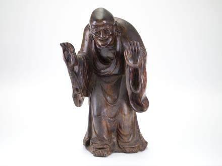 木雕壽翁擺件