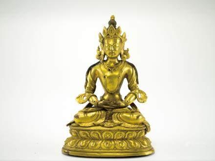 銅鎏金佛像