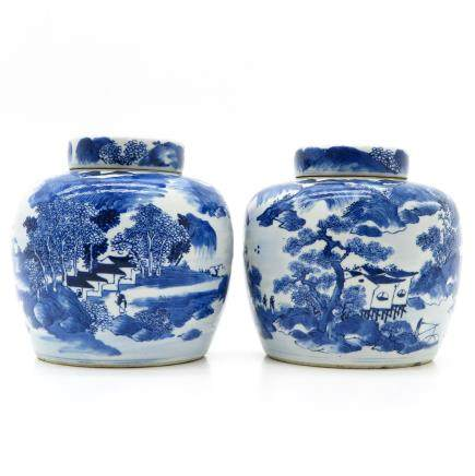 Lot of 2 China Porcelain Ginger Jars