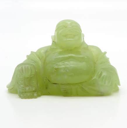 Carved Jade Buddha Sculpture