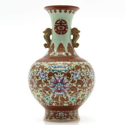 A Beautifully Painted China Porcelain Vase