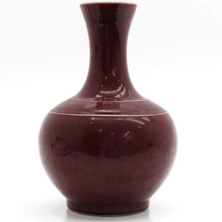 China Porcelain Sang de Boeuf Decor Vase