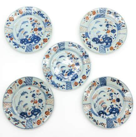 Lot of 5 18th Century China Porcelain Plates