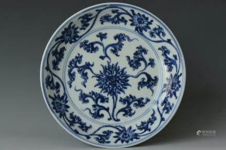 A Blue and White Dish, Chenghua Mark Kangxi