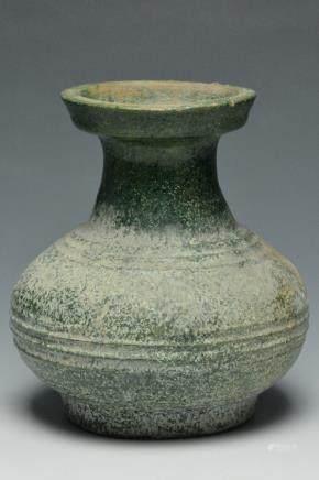 A Green-Glazed Red Pottery Jar, Han Dynasty