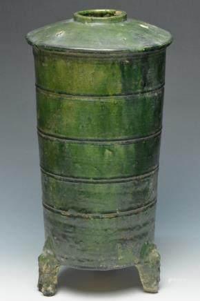 A Green-Glazed Granary Jar, Han Dynasty