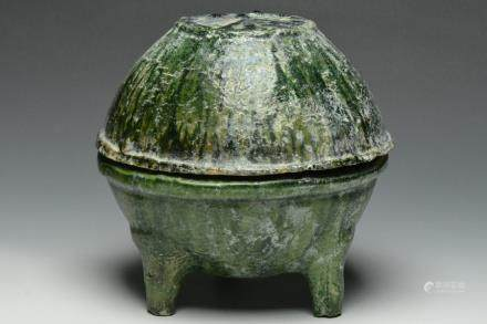 A Tripod Vessel and Cover, Han Dynasty