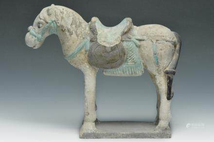 A Terracotta Standing Horse, Ming Dynasty