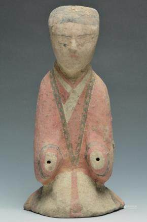 A Painted Figure of Attendant, Han Dynasty